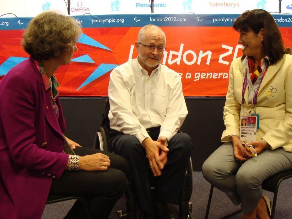 Marisol Casado_and_Sarah_Springman_met_with_Sir_Philip_Craven_at_London_2012
