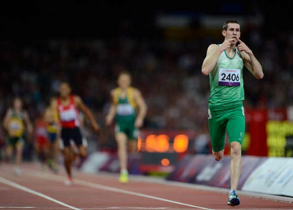 Michael McKillop_crosses_line_to_win_London_2012_Paralympic_1500m_September_2_2012