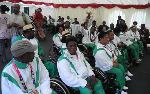 Nigiera Paralympic_athletes_wait_to_meet_President_Jonathan_September_2012