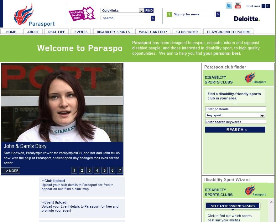 parasport website