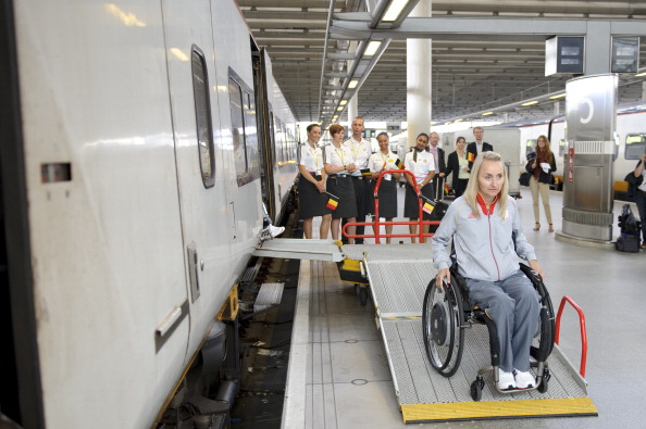 Bieke Ketelbuters_of_Belgium_arrives_by_Eurostar_at_St_Pancras_International_station_for_the_London_2012_Paralympic_Games