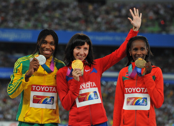Caster Semenya_of_South_Africa_Mariya_Savinova_of_Russia__Janeth_Jepkosgei_Busienei_of_Kenya_2011_IAAF_World_Championships