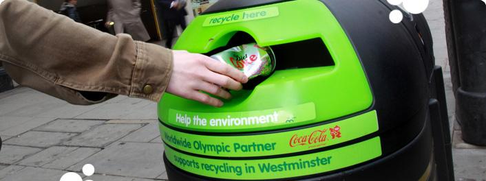 Coca-Cola London_2012_recycling_bins