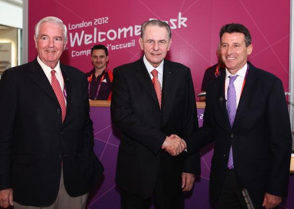 IOC member_for_Great_Britain_Sir_Craig_Reedie_IOC_President_Jacques_Rogge__Lord_Sebastian_Coe