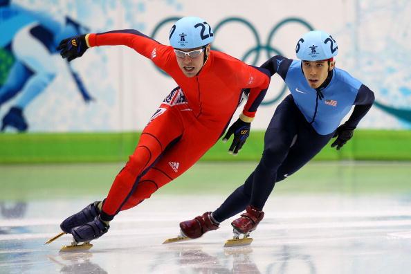 Jon Eley_of_Great_Britain__Apolo_Anton_Ohno_of_the_United_States_2010_Vancouver_Winter_Olympics