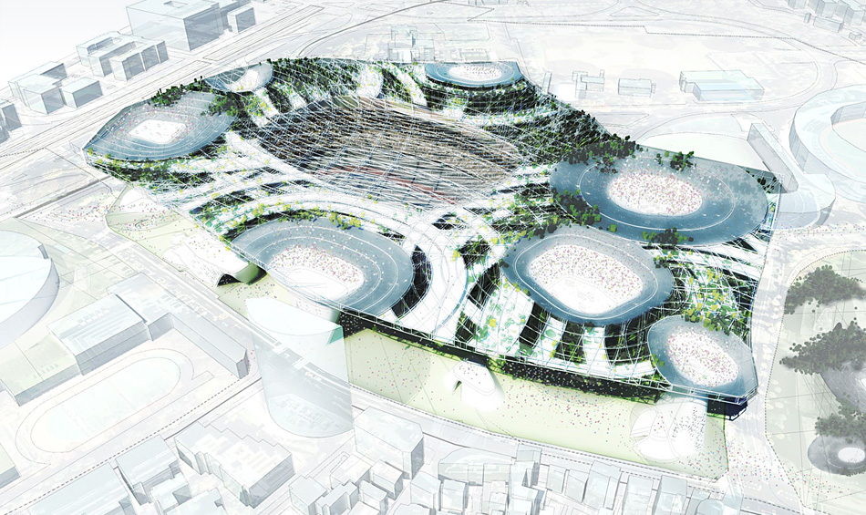 Populous design_for_remodelling_of_Tokyo_1964_Olympic_Stadium
