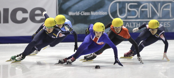 Suk Hee_Shim_of_Korea_Elise_Christie_of_Great_Britain_Marie-Eve_Drolet_of_Canada_and_Min-Jung_Kim_of_Korea