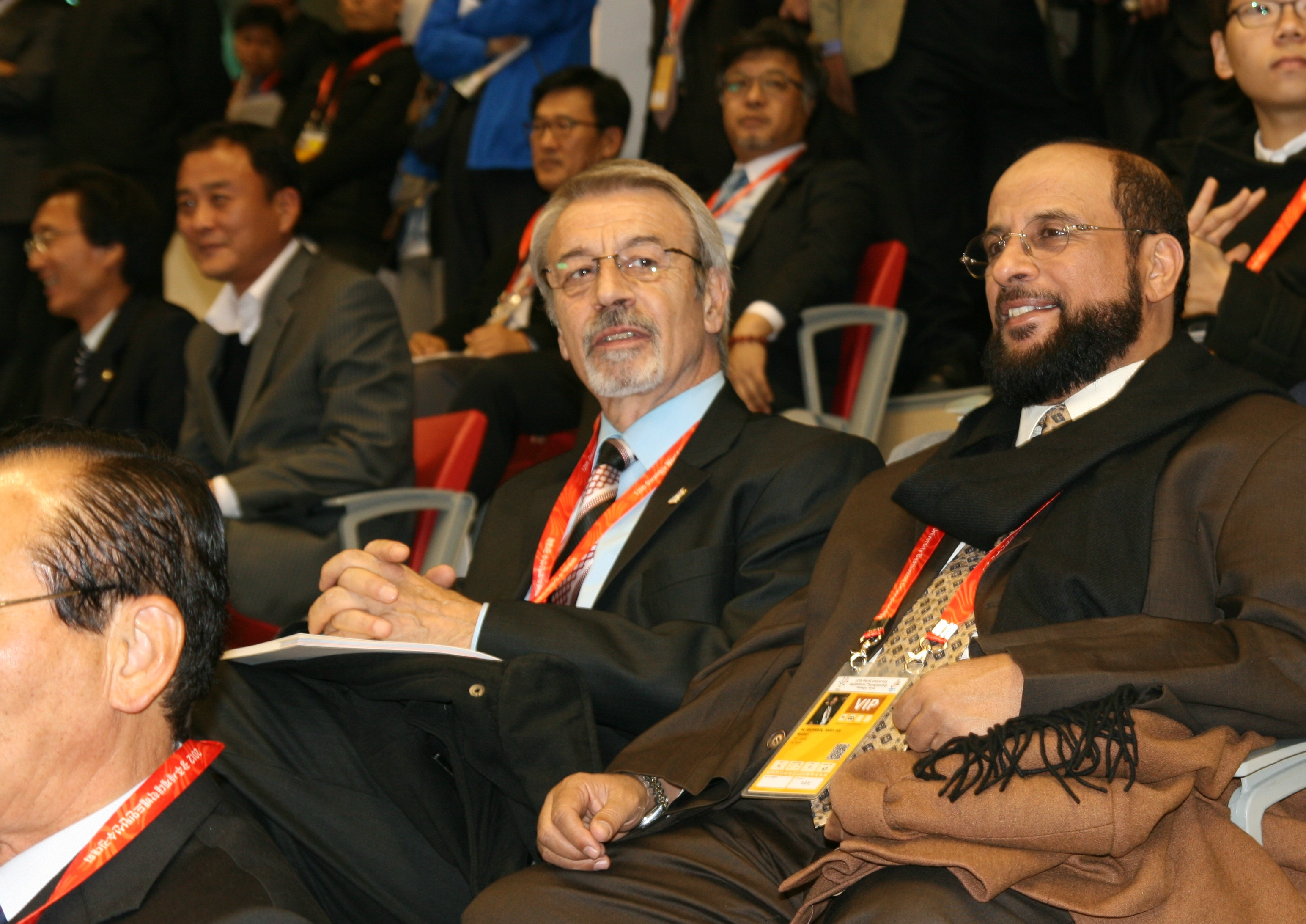 AIPS reporters at WUBC opening ceremony