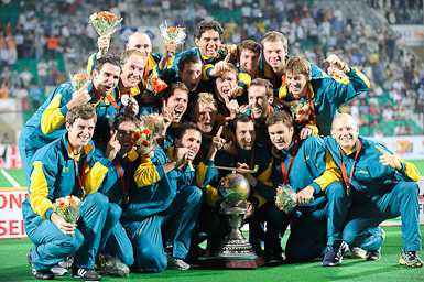 Australia celebrate_winning_2010_Hockey_World_Cup