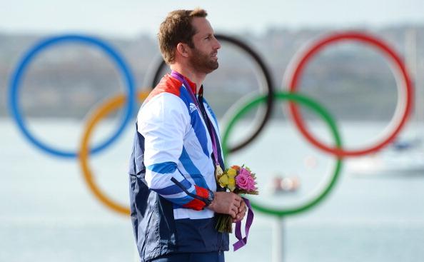 Ben Ainslie receiving London 2012 medal August 5 2012