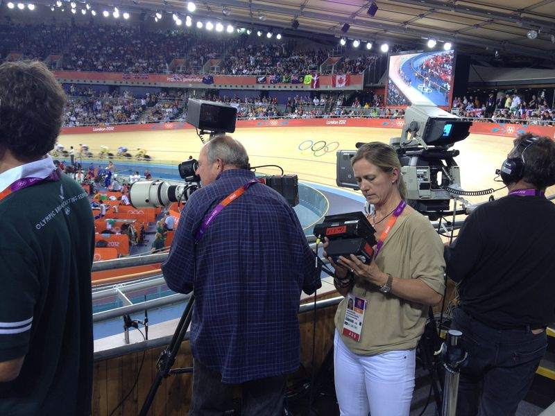 Caroline Rowland at London 2012 Velodrome
