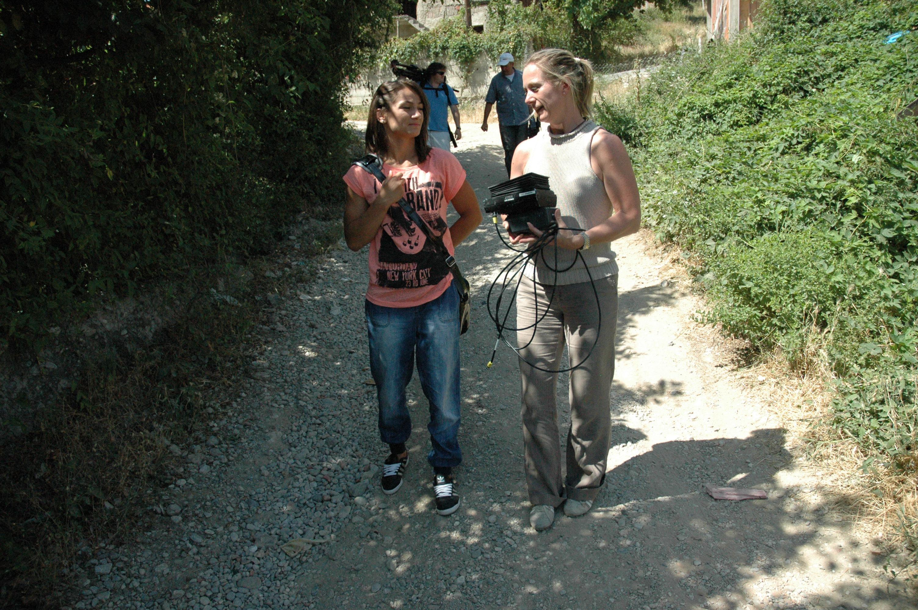 Caroline Rowland with Majlinda Kelmendi - Kosovo
