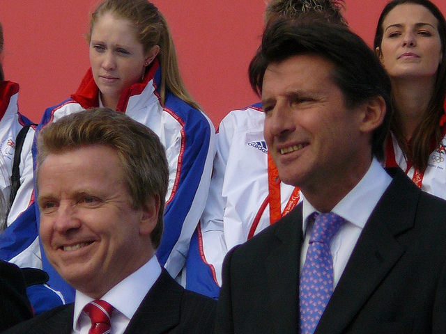 Colin Moynihan with Seb Coe