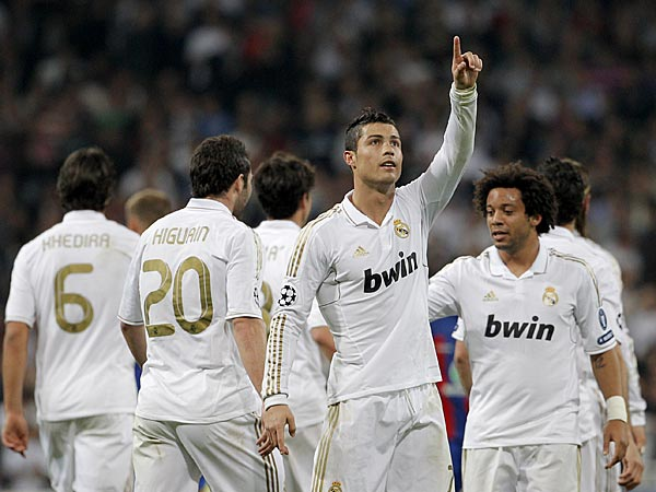 Cristiano Ronaldo celebrates goal for Real Madrid
