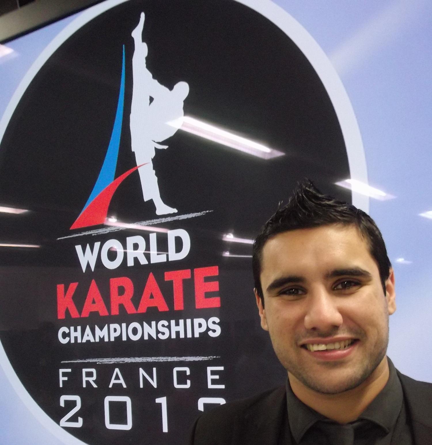 Tom Degun at World Karate Championships Paris November 25 2012