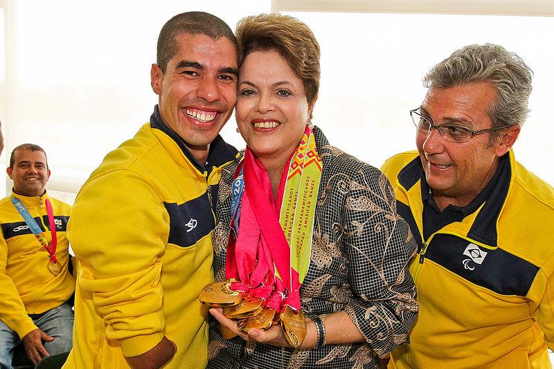 Daniel Dias with Brazilian President