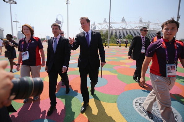 David Cameron and Sebastian Coe