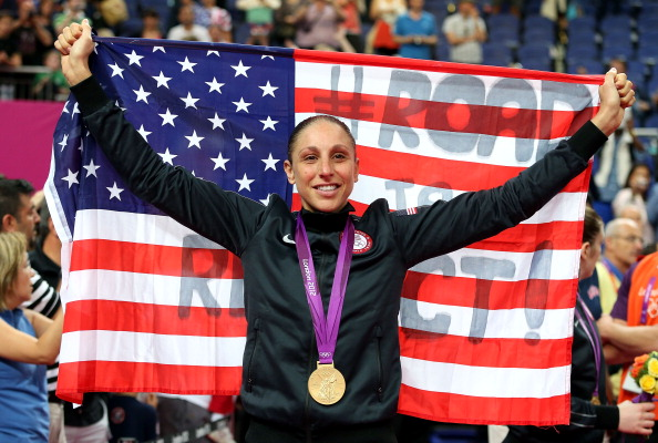 Diana Taurasi celebrates London 2012 gold medal August 11