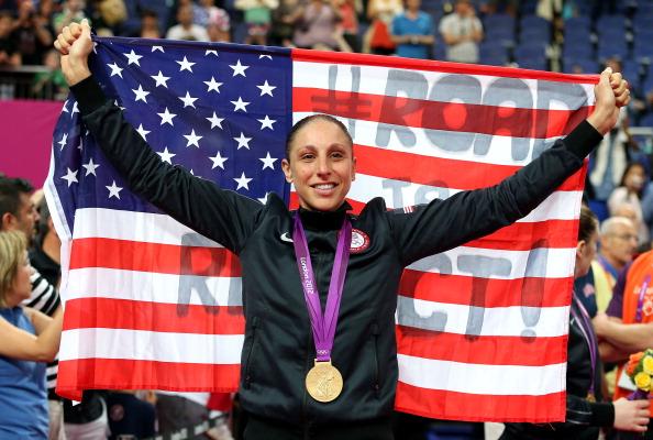 Diana Taurasi celebrates London 2012 gold medal August 11