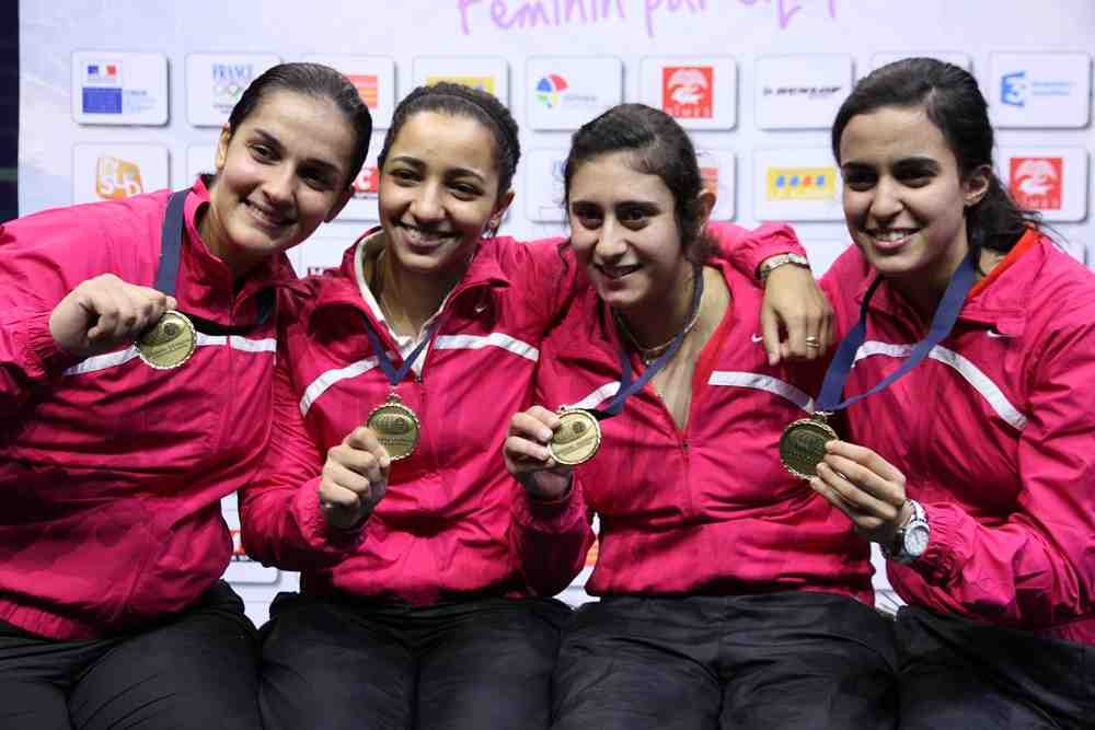 Egypt squash team Nov 18