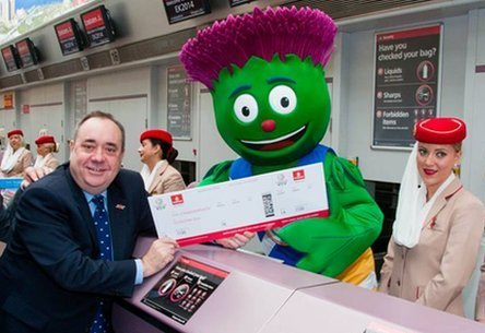 Glasgow 2014 announce sponsorship with Emirates November 7 2012 2