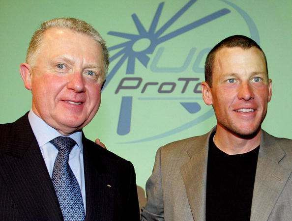 Hein Verbruggen with Lance Armstrong