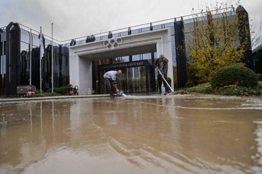 IOC Headquarters in Lausanne flooded November 12 2012