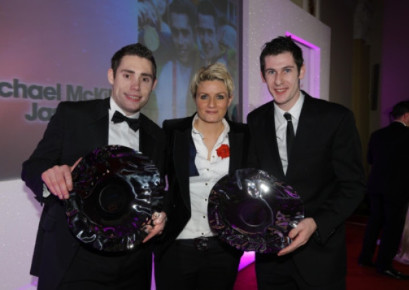 Jason Smyth and Michael McKillop at Northern Ireland Awards Belfast November 2012