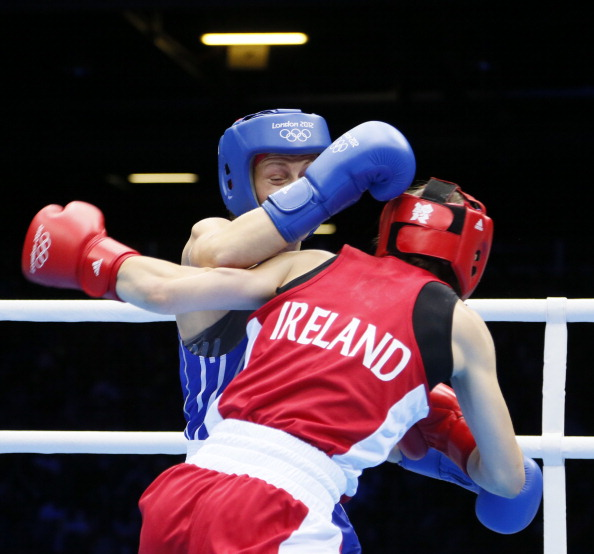 Katie Taylor fighting in London 2012 final