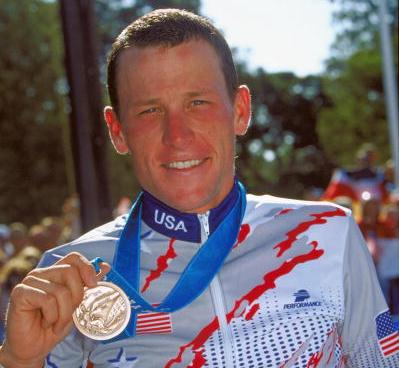 Lance Armstrong_with_Sydney_2000_bronze_medallist1