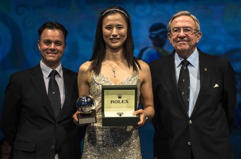 Lijia Xu is awarded the ISAF Rolex World Sailor of the Year Award