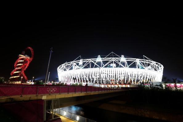 London 2012 Olympic stadium wrap