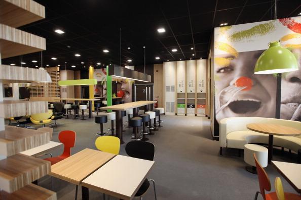 McDonalds interior London 2012 Olympic Park