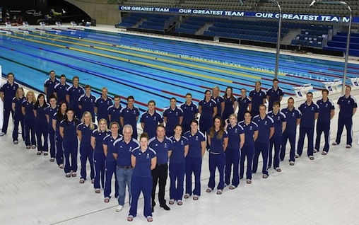 Michael Scott with Team GB before London 2012