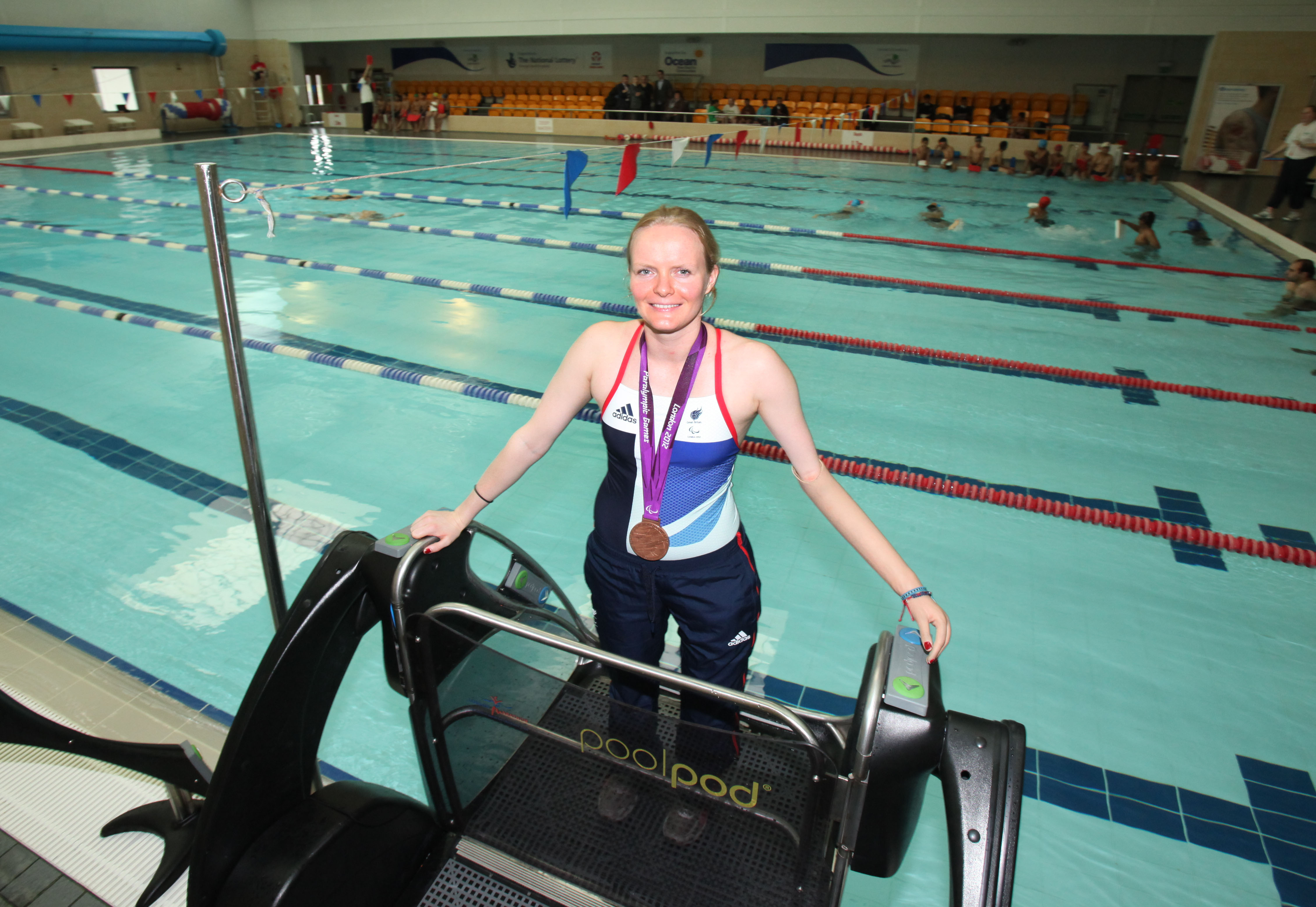 Paralympic triple bronze medallist Susie Rodgers in kit