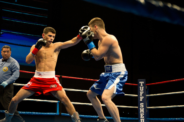 Sean McGoldrick fighting in WSB v USA November 15 2012