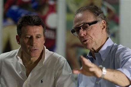 Sebastian Coe with Carlos Nuzman