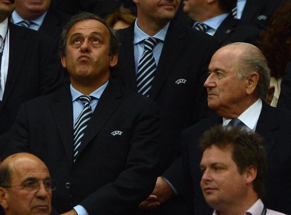 Sepp Blatter michel platini 231112