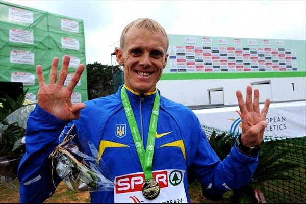 Sergiy Lebid has won the European Cross Country Championships on nine occasions winning in 1998 2001 2002 2003 2004 2005 2007 2008 and 2010