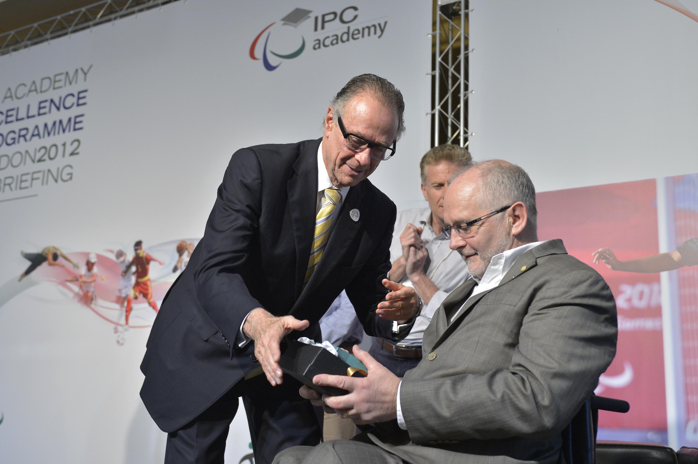 Sir Philip Craven with Carlos Nuzman Rio de Janeiro November 21 2012