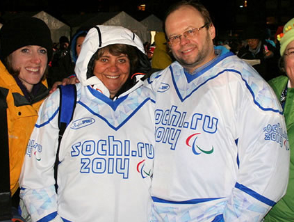 Sylvana Mestre in Sochi 2014 outfit