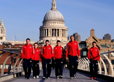 The newly launched British Lionhearts which will compete in the next season of the World Series of Boxing