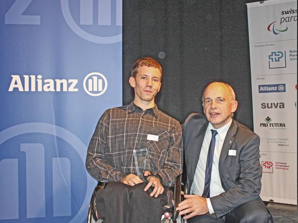 Tobias Fankhauser wins Swiss Newcomer of the Year award November 2012
