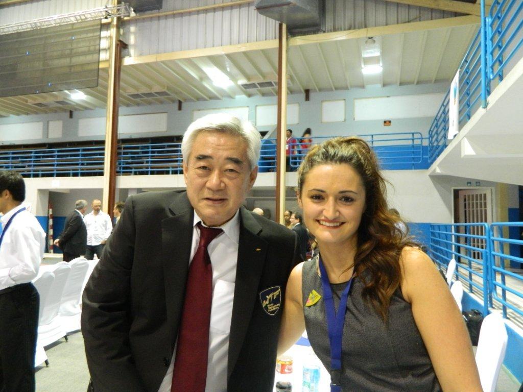 WTF President Choue and Lauren Mattera