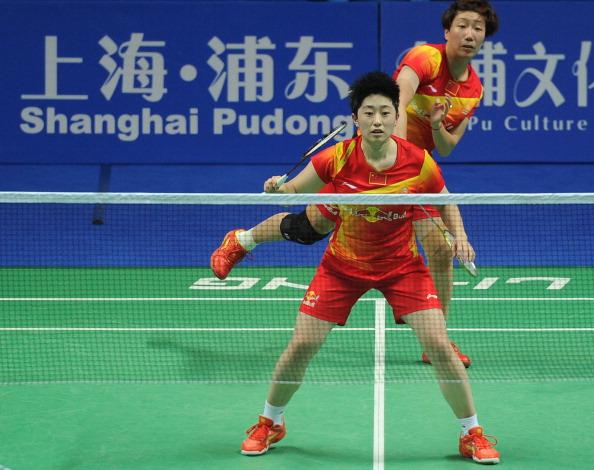 Yu Yang and Wang Xiaoli during China Open in Shanghai November 18 2012