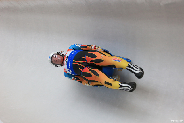 luge track training sochi 20142