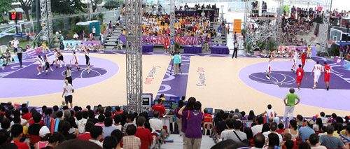 3x3 basketball at Singapore 2010