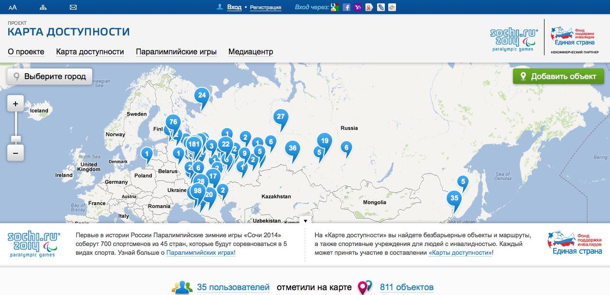 Accessibility Map Sochi 2014