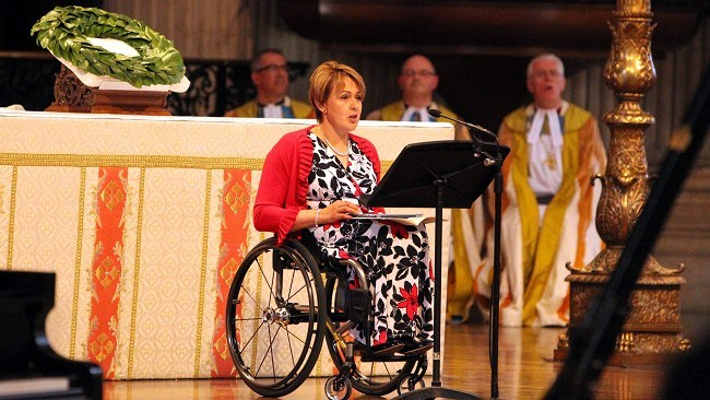 Baroness Tanni Grey-Thompson addressing audience
