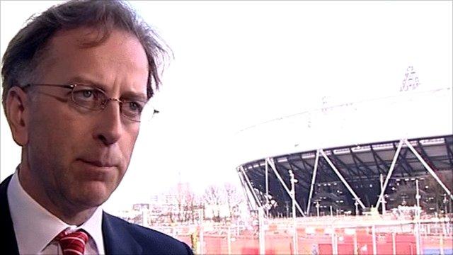 Ed Warner by Olympic Stadium